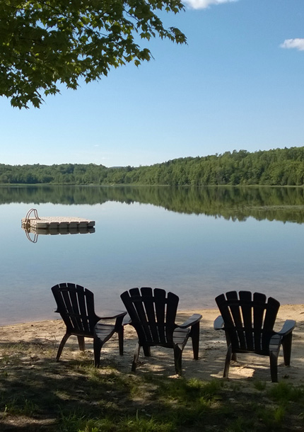 Activities in the Laurentians - Private beach